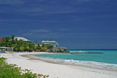 Img 0124a. Quiet rockley beach in Barbados Royalty Free Stock Image