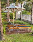 Resort hotel longers Royalty Free Stock Photo
