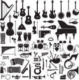 60 imágenes de instrumentos musicales Imágenes de archivo libres de regalías