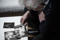 Imágenes de observación del viudo Foto de archivo libre de regalías