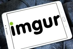Imgur图象主机服务商标 图库摄影