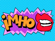 IMHO comic book style lettering Stock Images