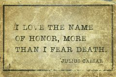 Imię honor Caesar obrazy stock