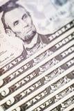 Imię prezydenci zlany Ameryka na dolarowych banknotach zdjęcia royalty free