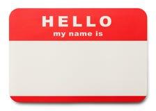 Imię etykietka Fotografia Stock