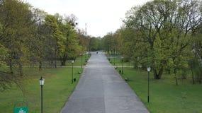 Imienia Poniatowskiego del parque Fotografía de archivo