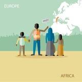 Imigração dos refugiados ilustração royalty free