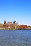 Imigraci stacja w Ellis wyspie w Górnej Nowy Jork zatoce Fotografia Stock