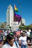 imigracyjny marsz fotografia stock
