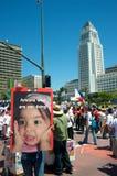 imigracyjny marsz fotografia royalty free