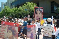 imigracyjny marsz zdjęcia stock