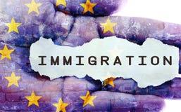 Imigracyjny pojęcie Obraz Royalty Free