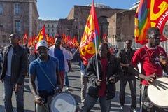 Imigrantes da demonstração e dos protestos Foto de Stock