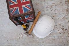 Imigrantes de trabalho ao Reino Unido Foto de Stock Royalty Free