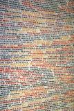 Imiona holokaust ofiary na ścianach Pinkas synagoga w Praga, republika czech zdjęcie royalty free