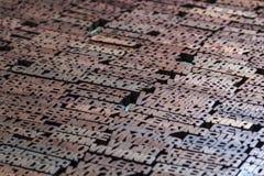 Imiona rzeźbiący w drewnie Fotografia Stock