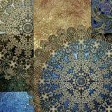 Imitação metálica, fundo colorido gasto abstrato, p floral Imagens de Stock