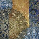 Imitação metálica, fundo colorido gasto abstrato, p floral Fotografia de Stock Royalty Free
