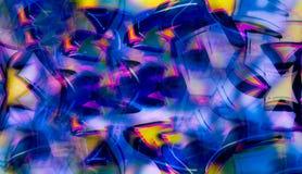 Imitación abstracta de la pintada en collage digital libre illustration