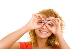 Imitación de los prismáticos Foto de archivo