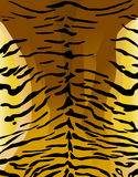 Imitación del cuero del tigre como fondo stock de ilustración