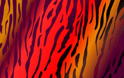 Imitación del cuero del tigre como fondo ilustración del vector