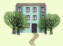 Imitación del gráfico de la casa ilustración del vector