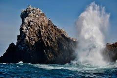 Imitación del mar a una roca fotos de archivo libres de regalías
