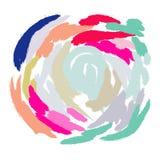 Imitación del movimiento del cepillo de pintura acrílica Imagen de archivo libre de regalías