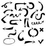 Imitación determinada del drenaje de la mano de la flecha negra del vector libre illustration