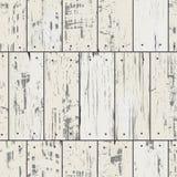Imitaci drewna deski z gwoździami deseniowy retro bezszwowy wektor Royalty Ilustracja