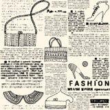 Imitacj gazety moda Obraz Royalty Free