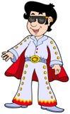 Imitador de Elvis dos desenhos animados Imagem de Stock Royalty Free