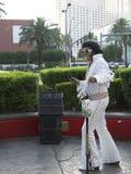 Imitador de Elvis en Las Vegas en Nevada los E.E.U.U. Imagenes de archivo