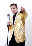 Imitateur d'Elvis Photo libre de droits