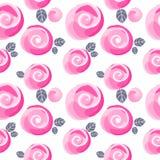 Imitatie en leuk klein de bloemen naadloos patroon van waterverfrozen, vectorillustratie, editable elementen, niet een spoor Royalty-vrije Stock Foto's