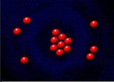 Imitatie op een een nestrood en blauw Rode ballen op arduinstenen stock illustratie