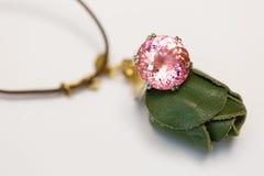 Imitatie roze diamantimitatie stock foto's