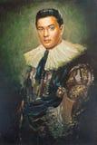Imitatie van antiek portret, de vreemdeling Stock Afbeelding