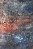 Imitatie van een oude geschilderde muur in verscheidene lagen en kleuren stock foto