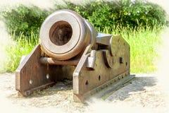 Imitatie van het beeld Mortierwapen Oud Kanon stock foto