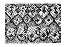 Imitation abstraite tirée par la main de peau de serpent de vecteur courant Photographie stock