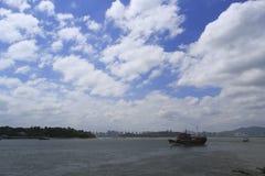 Imitation of ancient ferry, amoy city, china. Imitation of ancient ferry between the amoy island and gulangyu island Stock Photo