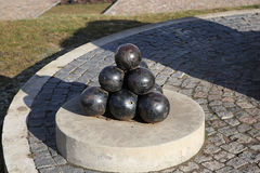 Imitation bunch of cannonballs Stock Photo