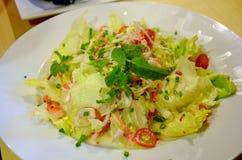 Imitation crab stick salad Japanese cuisine Stock Photo