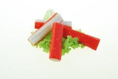 Imitation Crab Stick on white background Royalty Free Stock Image