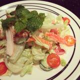 Imitation crabmeat spicy salad Stock Images