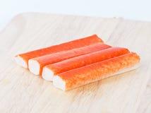 Imitation crabmeat Stock Image