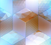 Imitation of cubes with different surfaces Royalty Free Stock Photos