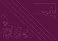 Imitation embroidery. Burgundy background with imitation of embroidery colors Royalty Free Stock Image